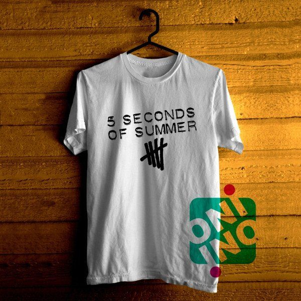 5 Seconds of Summer Logo Tshirt For Men / Women Shirt Color Tees