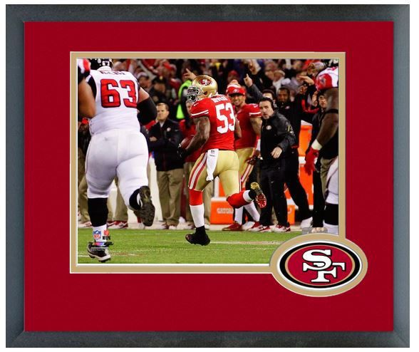 NaVorro Bowman 2013 San Francisco 49ers - 11 x 14 Team Logo Matted/Framed Photo