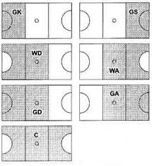Image result for netball court positions