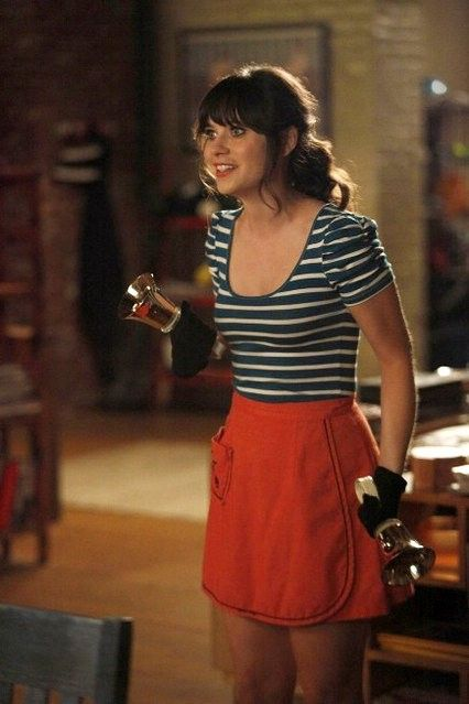 """""""New Girl"""" style.  Totally getting this outfit!"""