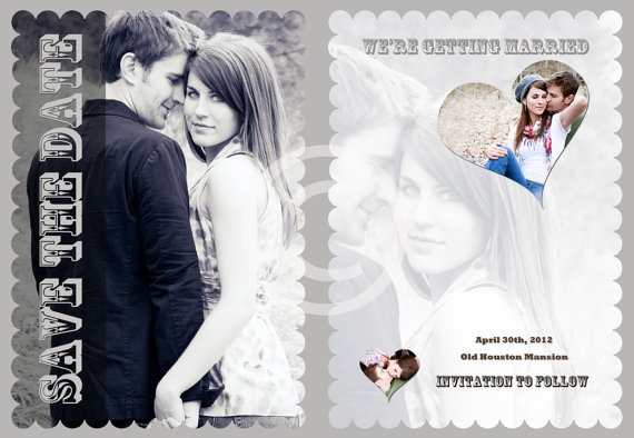 Modern Vintage Wedding Save the Date Template