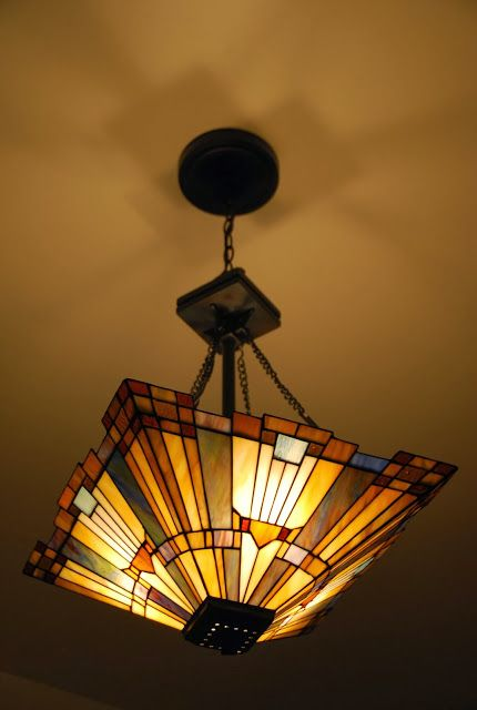 Craftsman style pendant from Quoizel Lighting.