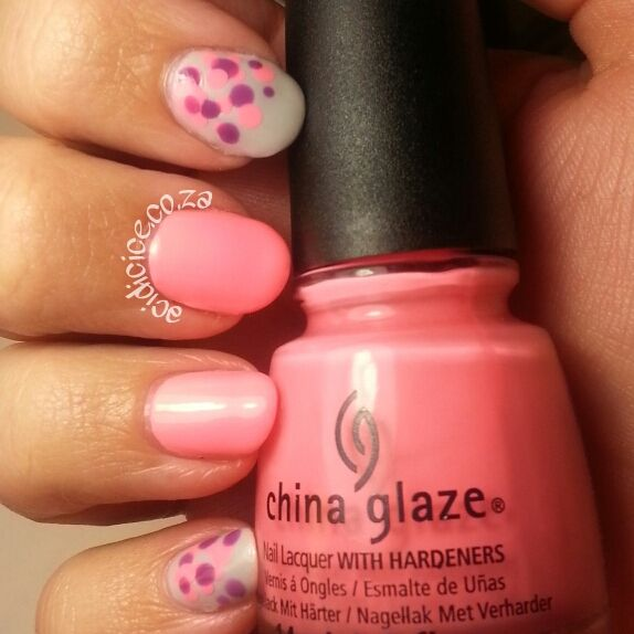 China Glaze Neon & On & On and Revlon Cabana Queen