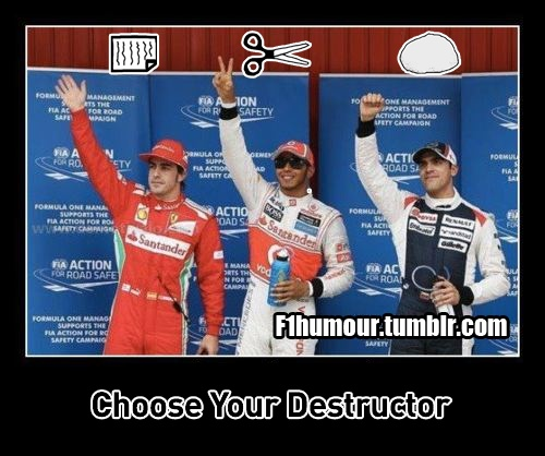 F1 jokes, gags, funny F1 videos and F1 photoshops