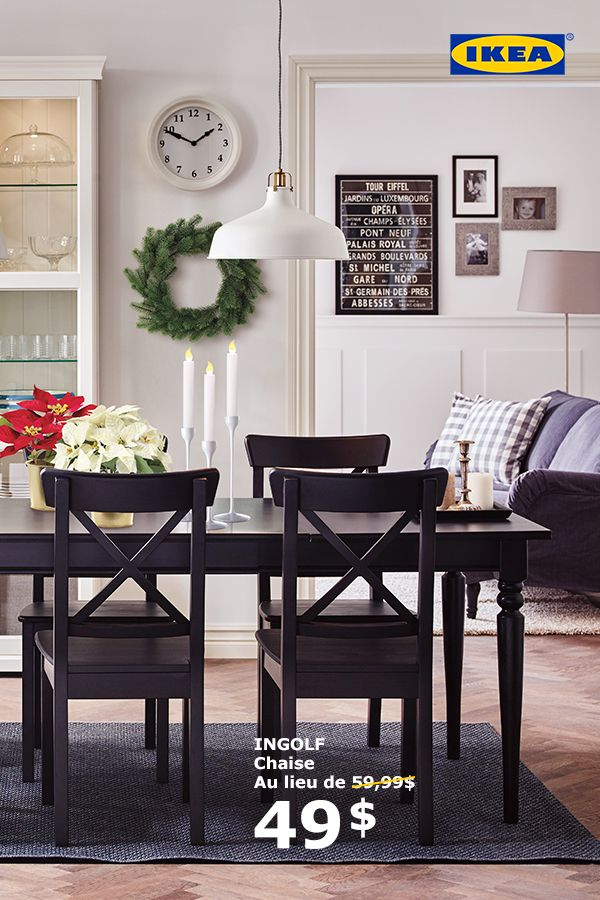 Aux Fêtes, assoyez tout le monde à la table. La promo Salles à manger IKEA est en cours. Jusqu'au 1 er janvier, profitez de 15 % de réduction sur le prix de toutes nos chaises de salle à manger.