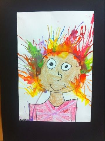 Crazy Hair Paintings: Splish Splash Splatter