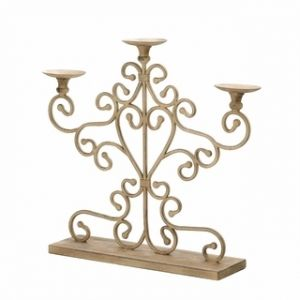 $69.95 - Give your table a romantic makeover in an instant with his gorgeous candelabra made from wrought iron and antique finish to look like a family heirloom.