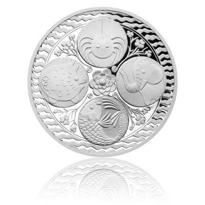 Stříbrná medaile Čtyřlístek pro štěstí proof | Česká mincovna
