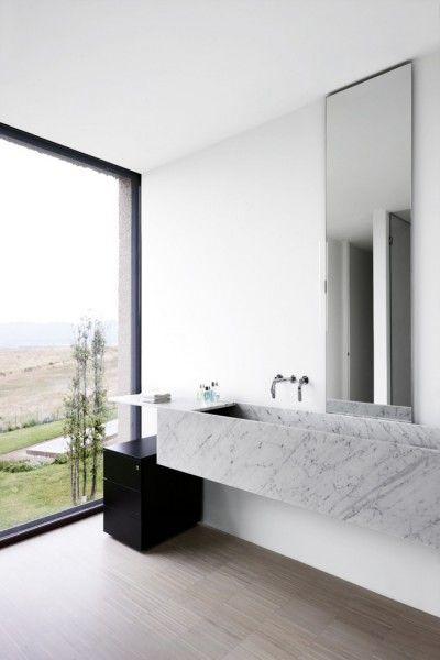 Big Window #bathroom tiles, shower, vanity, mirror, faucets, sanitaryware, #interiordesign, mosaics,  modern, jacuzzi, bathtub, tempered glass, washbasins, shower panels #decorating