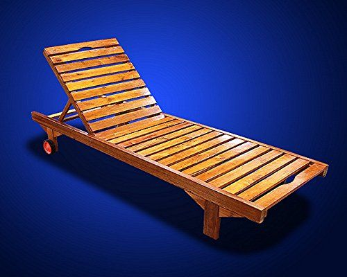 New Mtn Deluxe Wooden Oak Wood Sun Lounger With Wheel Mp004 Gearsmith Http