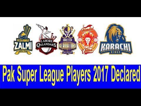 Pakistan Super League Players Draft   PSL 2nd 2017