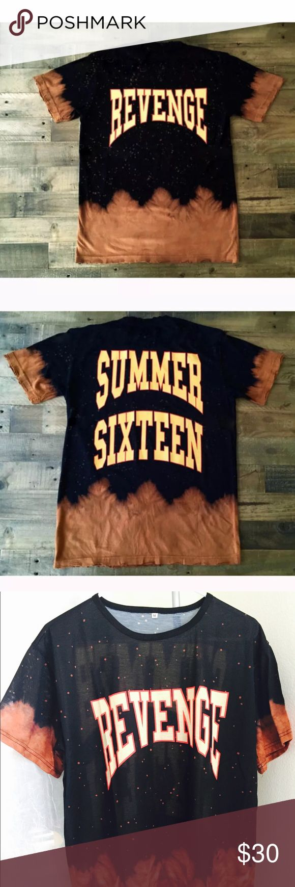 """Bleached """" Summer Sixteen """" Merch Shirt ✨ New """" Bleached Tees """" added @shadedbymini            Get Yours Now Before They SELL OUT!! 🔥                 New • """" Summer Sixteen """" Revenge Tee comes pre-bleached without rips                                                                                         Only 1 Available • High Quality • Unisex ✨                      Material: 100% Cotton…"""