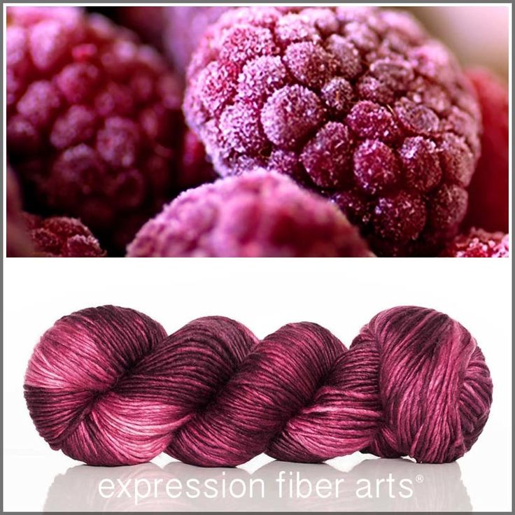 Berry Freeze - pearlescent worsted yarn by expression fiber arts