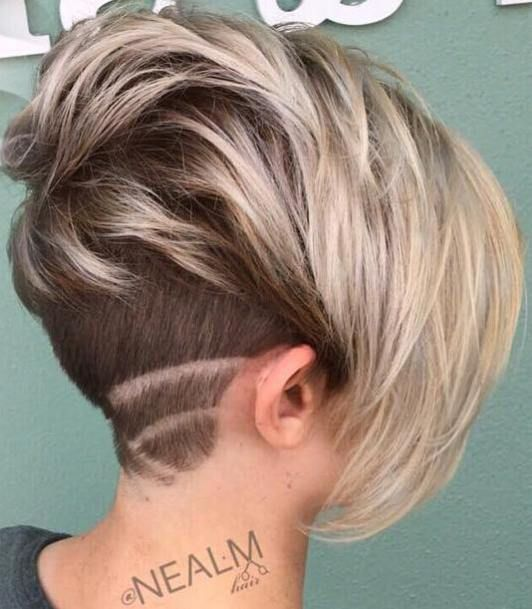 Pixie Bob With Nape Undercut. I love the front but I am not sure about the nape.