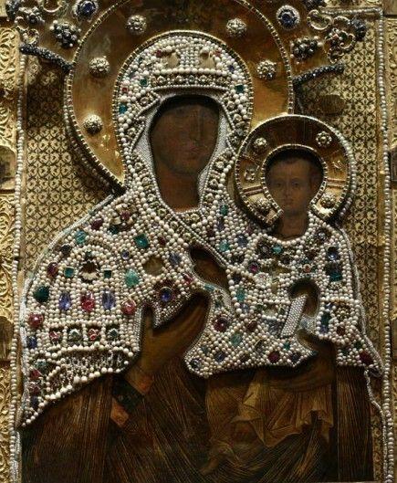 Вышитая камнями икона Владимирской Божьей Матери, Оружейная палата Кремля