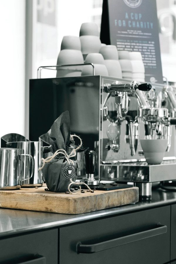 ★ Love this #vipp initative! And the best coffee in #copenhagen! I love these commercial grade espresso machines.