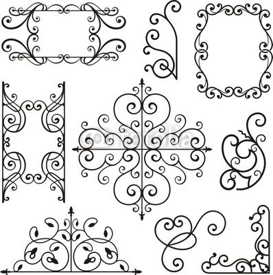 Vector: Wrought Iron Ornamental Designs
