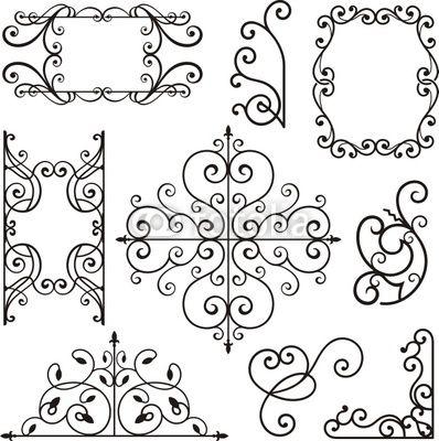 http://pixers.fr/tableaux-et-posters/fer-forge-motifs-ornementaux-17940402?material_id=1