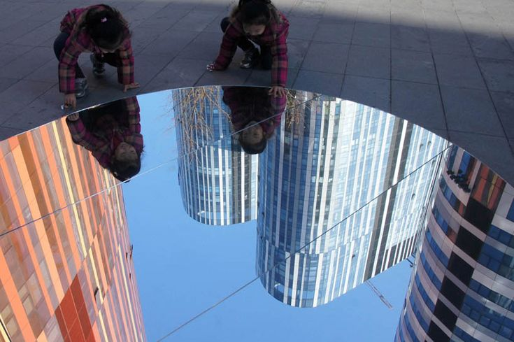 the lost lakes of china pop up as reflections across beijing by grey group china