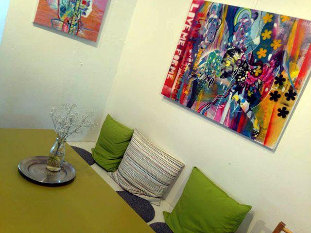 Randi Antonsen - Art - Illustration - Design: Røde malerier 70*90 cm på lerret