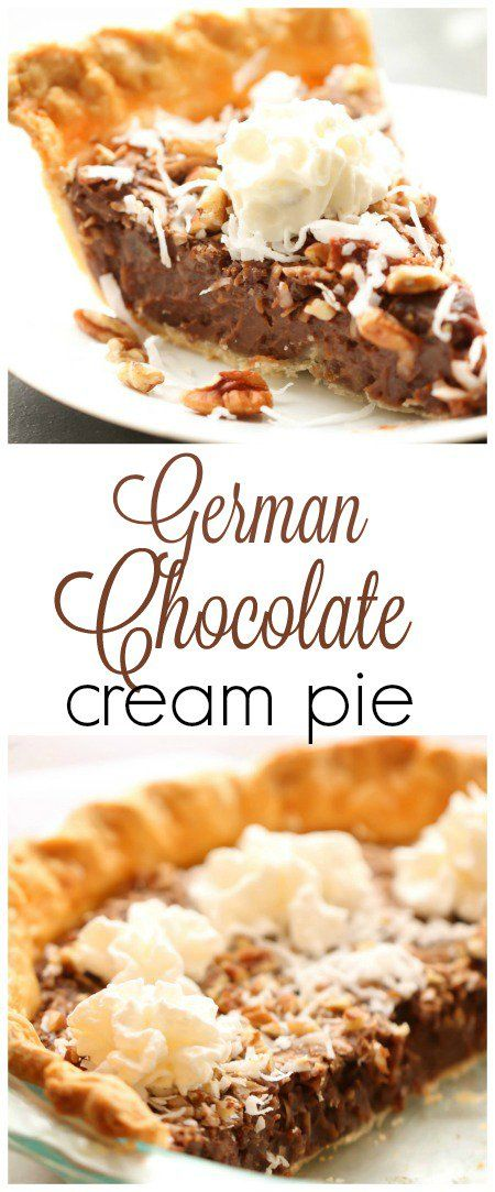 German Chocolate Cream Pie – Six Sisters' Stuff | This made from scratch holiday dessert is always a crowd favorite. Perfect for Christmas entertaining and dinners. #bestdesserts #christmasfood #christmas
