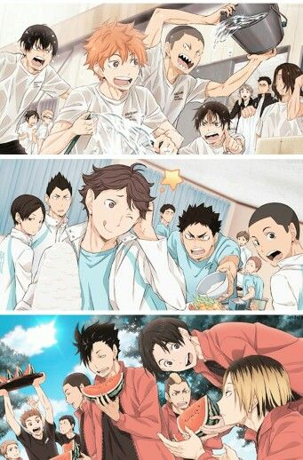 Haikyuu!! Look how happy they are why do I care so much about these volleyball nerds
