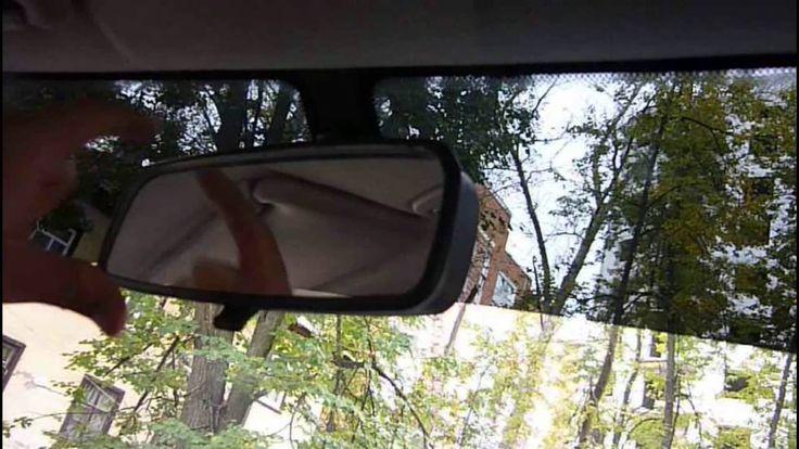 Как приклеить зеркало заднего вида на лобовое стекло Лада Гранта, Ваз
