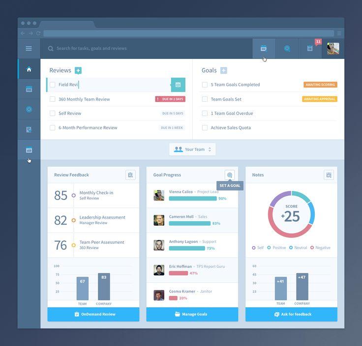 HR Admin Web App UI/UX / Mason Yarnell