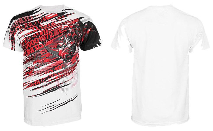 Ecko MMA Lightning Rhino Shirt - Bleach White at http://www.fighterstyle.com/ecko-mma-shirts-summer-2013-lookbook/