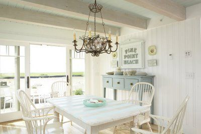 The ceiling light adds just the right amount of clutter in this pic from thedesigninspirationalist.com.  Full URL:  http://thedesigninspirationalist.files.wordpress.com/2012/06/coastalliv-mainecottagekitchen.jpg