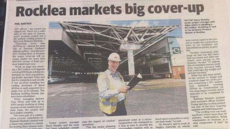 Courier Mail - Rocklea markets big cover up