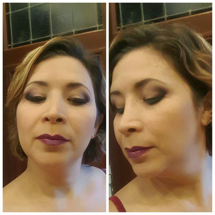 #makeup #beauty #smokyeyes #purple #intense #sephora #kryolan #eyelashes #creamliner #black #dark #night
