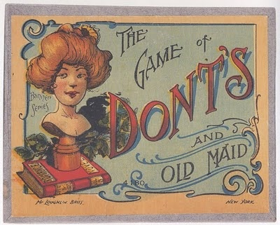 The Game of Don'ts and Old Maid, New York: McLoughlin Bros., [n.d.]