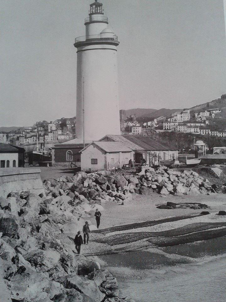 La Farola en sus principios. ANCIENT MALAGA-SPAIN