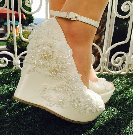 Wedding  Wedding Shoes Bridal Shoes Ivory Wedding by KILIGDESIGN