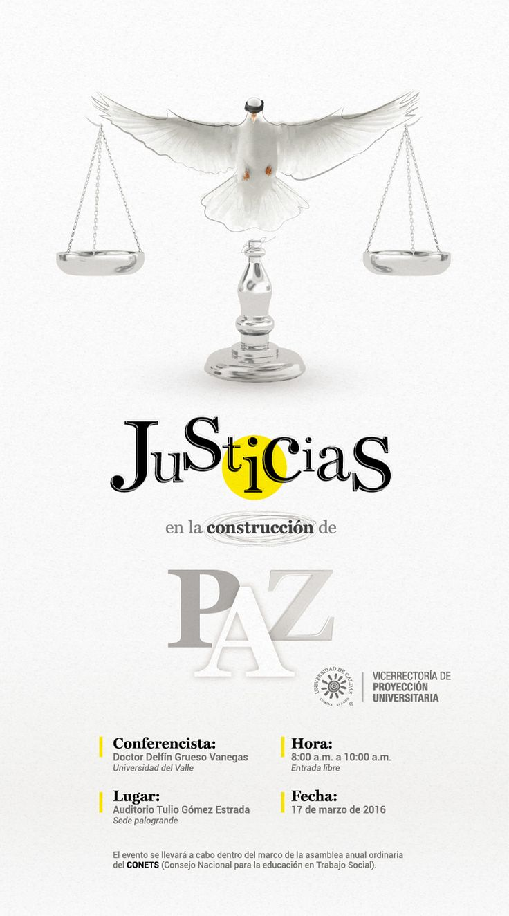 Justice in the Peacebuilding on Behance