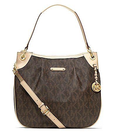 MICHAEL Michael Kors Jet Set Item Large Signature Shoulder Bag - Shop All Michael  Kors Handbags   Accessories - Handbags   Accessories - Mac. cb647787949