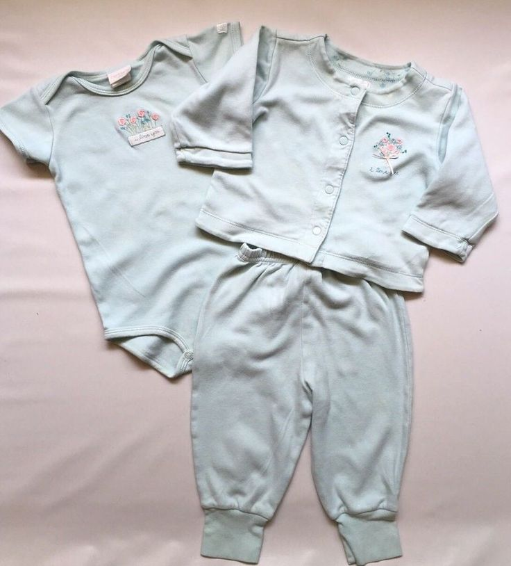 Carter's Classics Baby Girl Size 9-12M Turquoise Shirt, Onsie, Pant Outfit Lot 3 #Carters #Everyday