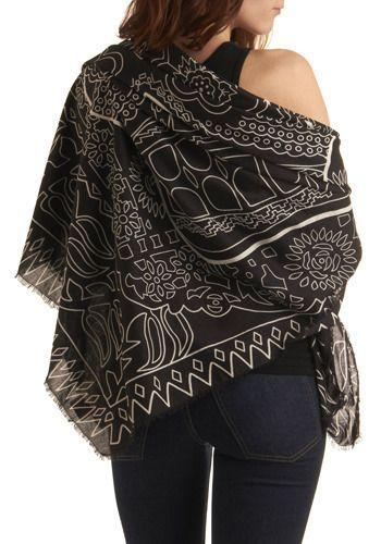 sugar skull shawl.