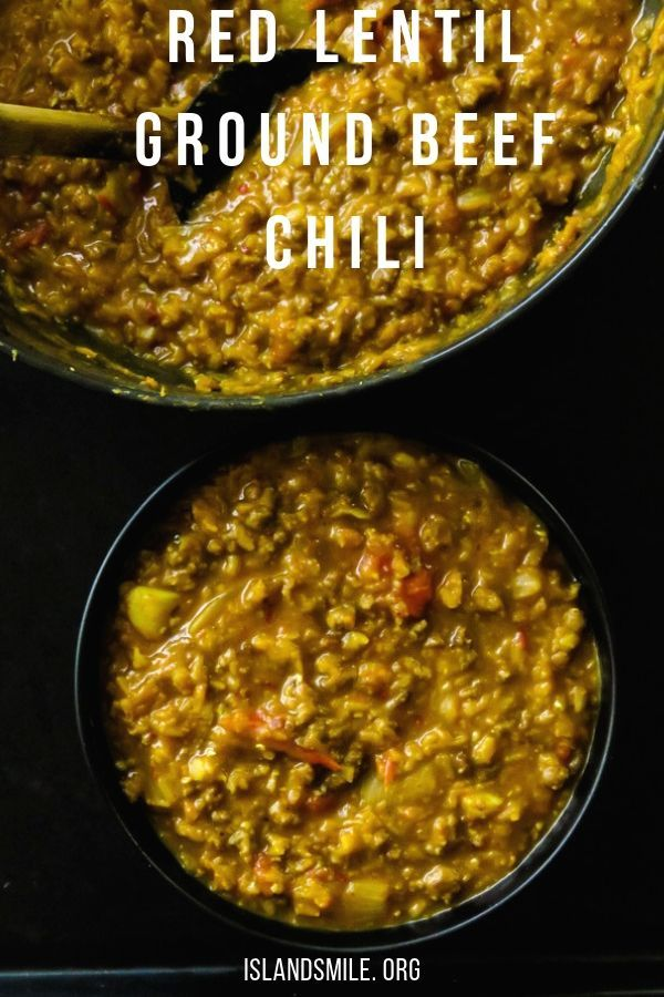 Red Lentil Dhal And Ground Beef Chili This Ground Beef And Lentil Chili Are For Hectic Days Or Days That You Re Lentil Recipes Minced Beef Recipes Ground Beef