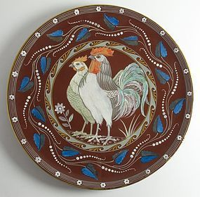 Minton Aesthetic Movement wall charger 1882
