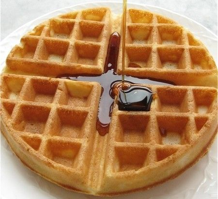 Continental breakfast: Belgian waffles made with yeast. Mix and leave overnight. Takes 5 mins!   Flourish - King Arthur Flour's blog