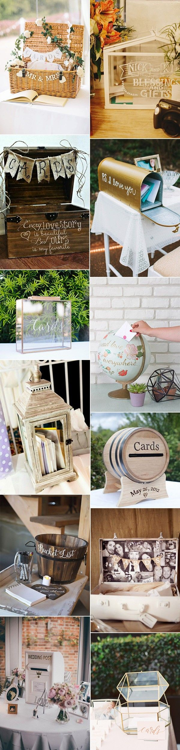 To add an extra detail into your decor you can turn the rather drab card box into something fabulous. It's a great way to put your DIY skills to use and to brighten up a welcoming table. Here are 20 ideas for you to get creative with your card boxes. (adsbygoogle =Read more