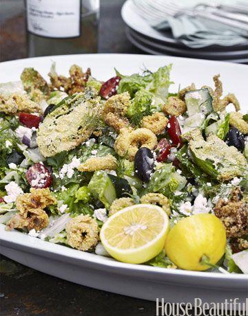 Tyler Florence Calamari Salad Recipe - Summer Recipe for Calamari Salad - House Beautiful