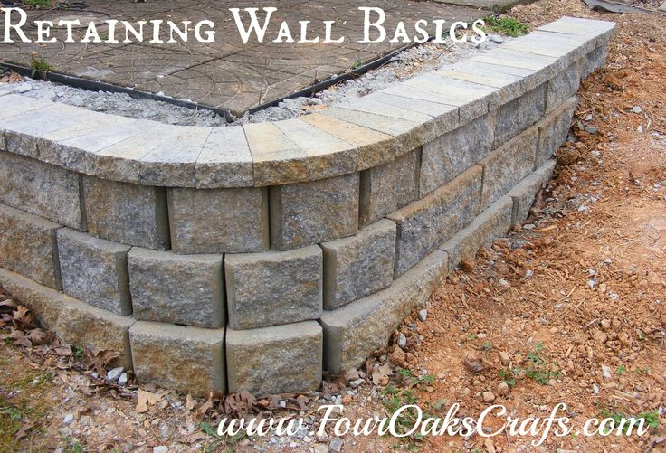 How to build a simple retaining wall. This tutorial will give the overall steps for creating a simple retaining wall.