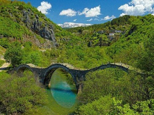 Ancient Stone Bridge, Zagori, Greece: Stones Bridges, Dreams, Honeymoons Locations, Greece, The Bridges, Places, Adventure Travel, Ancient Stones, Photo