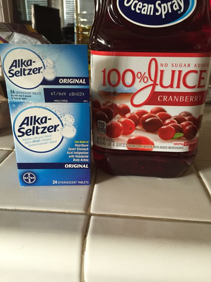 I woke up at 10 this morning with symptoms of a UTI. I sat in the bath tub till 11:30 & searched for home remedies to hold me over till I can get an appointment with the doc. I bought these two things and took them when I got home at 12:45. 2 tabs of Alka-Seltzer with a glass of water and sip on a glass of cranberry juice throughout the hour. It is now 2:24pm and I am symptom FREE!! FREE I TELL YOU! GOD I LOVE PINTEREST❤️