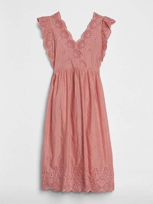 44641e8880 Gap Womens Midi Eyelet Dress Pink | Products in 2019 | Eyelet dress ...