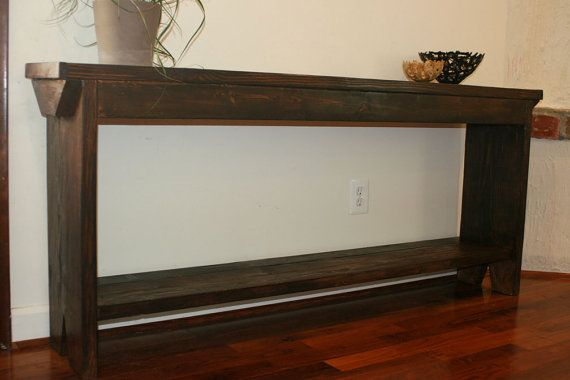 6 foot entryway table 6 foot narrow console 6 by modernrust lynn and chris. Black Bedroom Furniture Sets. Home Design Ideas