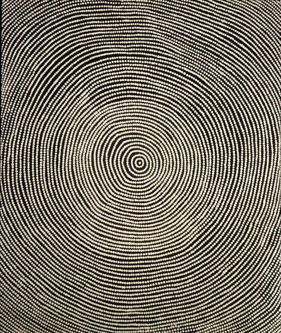 Ngurlu Jukurrpa. / Native Seed Dreaming. / Art aborigène. / Galerie Arts d'Australie, Paris, France. / By Lynette Granites Nampijinpa.